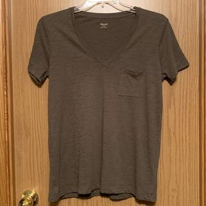 Madewell Cotton Pocket T Tee Shirt V Neck NWT